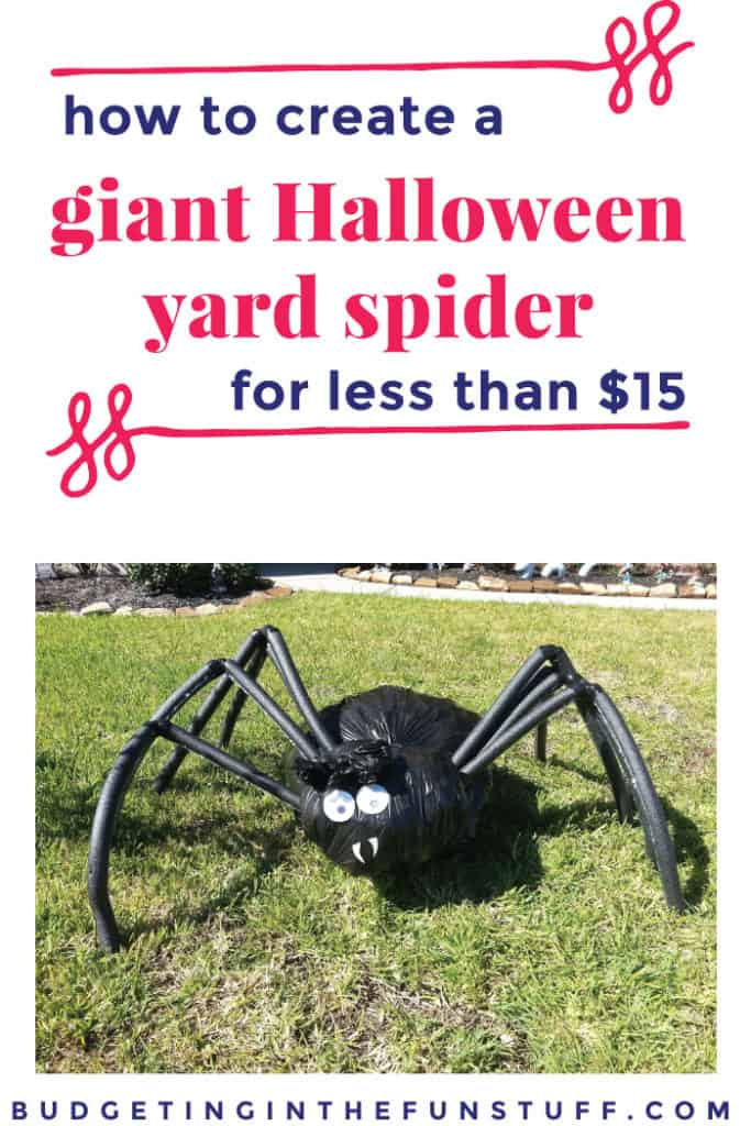 Do It Yourself Halloween Decorations For Outside.How To Make A Yard Spider Our Newest Halloween Addition